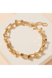 avenue zoe  Metal Chain Linked Bracelet - Product Mini Image
