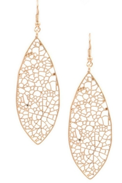 Art Box Metal Cut Out Teardrop Leaf Earrings - Alternate List Image