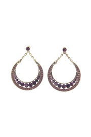 Giftcraft Inc.  Metal Earrings Purple - Product Mini Image