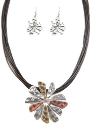 Nadya's Closet Metal Flower Necklace-Set - Product Mini Image