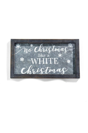 Gift Craft Metal framed holiday art - Front cropped