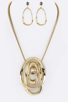 Shoptiques Product: Metal Hoops Necklace-Set