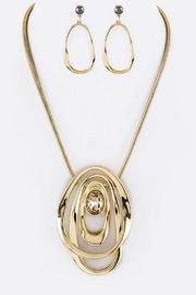 Nadya's Closet Metal Hoops Necklace-Set - Product Mini Image