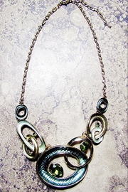 Sophia GREEN METAL ENCIRCLED CIRCLES - Product Mini Image