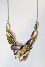 KIMBALS Metal Necklace Set In Amber Tones - Front cropped