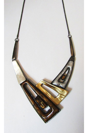 KIMBALS Metal Necklace Set In Copper Tones - Product Mini Image