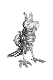 G Gallery & Glass Studio Metal Owl Sculpture - Front cropped