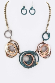 Nadya's Closet Metal Plates Necklace-Set - Product Mini Image