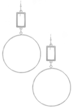 Art Box Metal Ring Drop Earrings - Alternate List Image