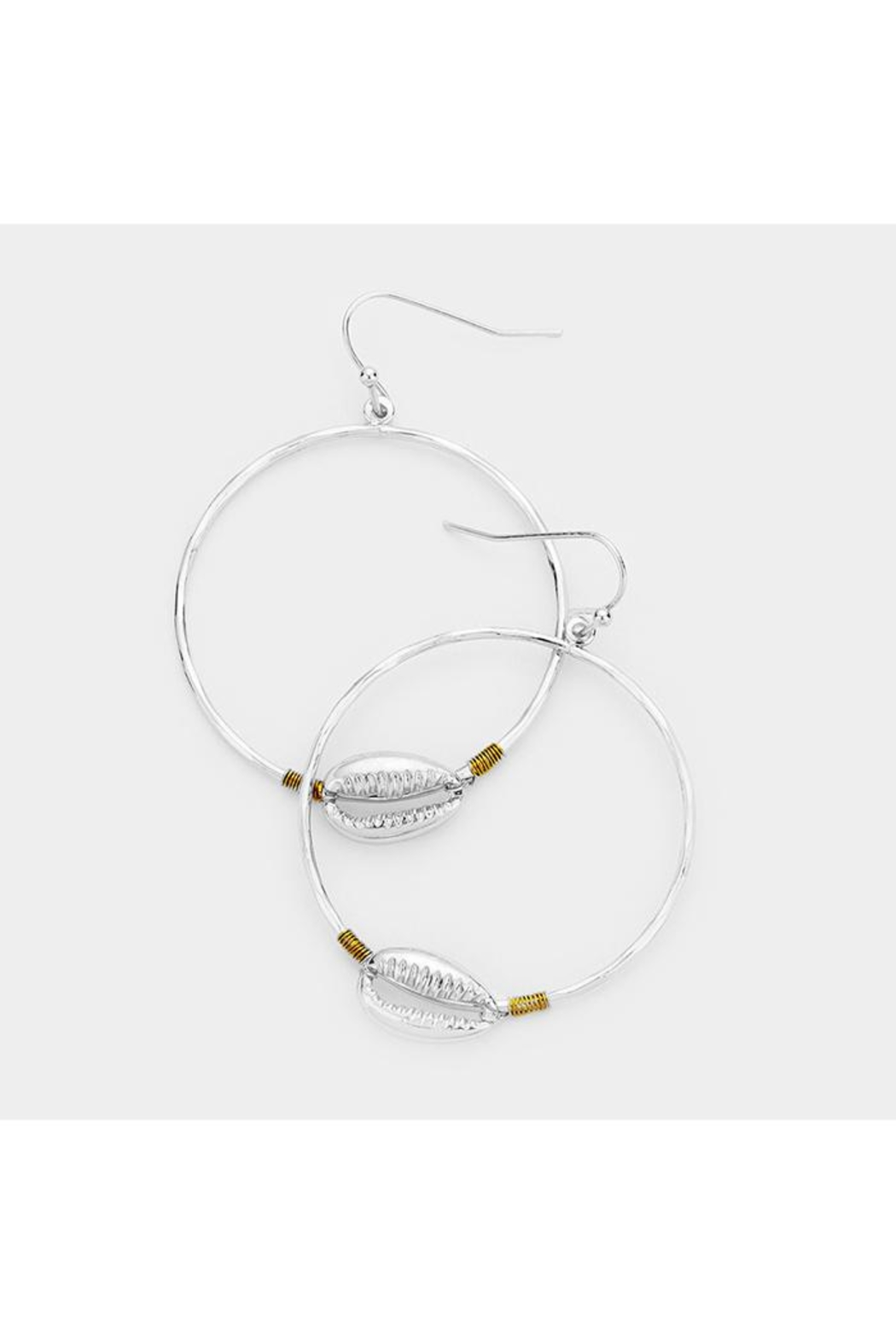 Lets Accessorize Metal Shell Hoops - Main Image