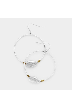 Lets Accessorize Metal Shell Hoops - Alternate List Image