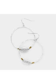 Lets Accessorize Metal Shell Hoops - Front cropped