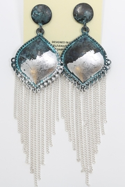 Nadya's Closet Metal-Tassel Fashion Earrings - Product Mini Image