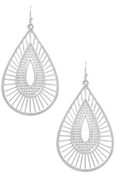 Art Box Metal Teardrop Dangle Earrings - Alternate List Image