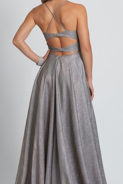 Dave and Johnny Metallic A-Line Gown - Alternate List Image