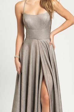 Dave and Johnny Metallic A-Line Gown - Product List Image