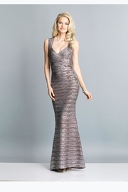 Dave and Johnny Metallic Bandage Dress - Front cropped