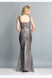 Dave and Johnny Metallic Bandage Dress - Front full body