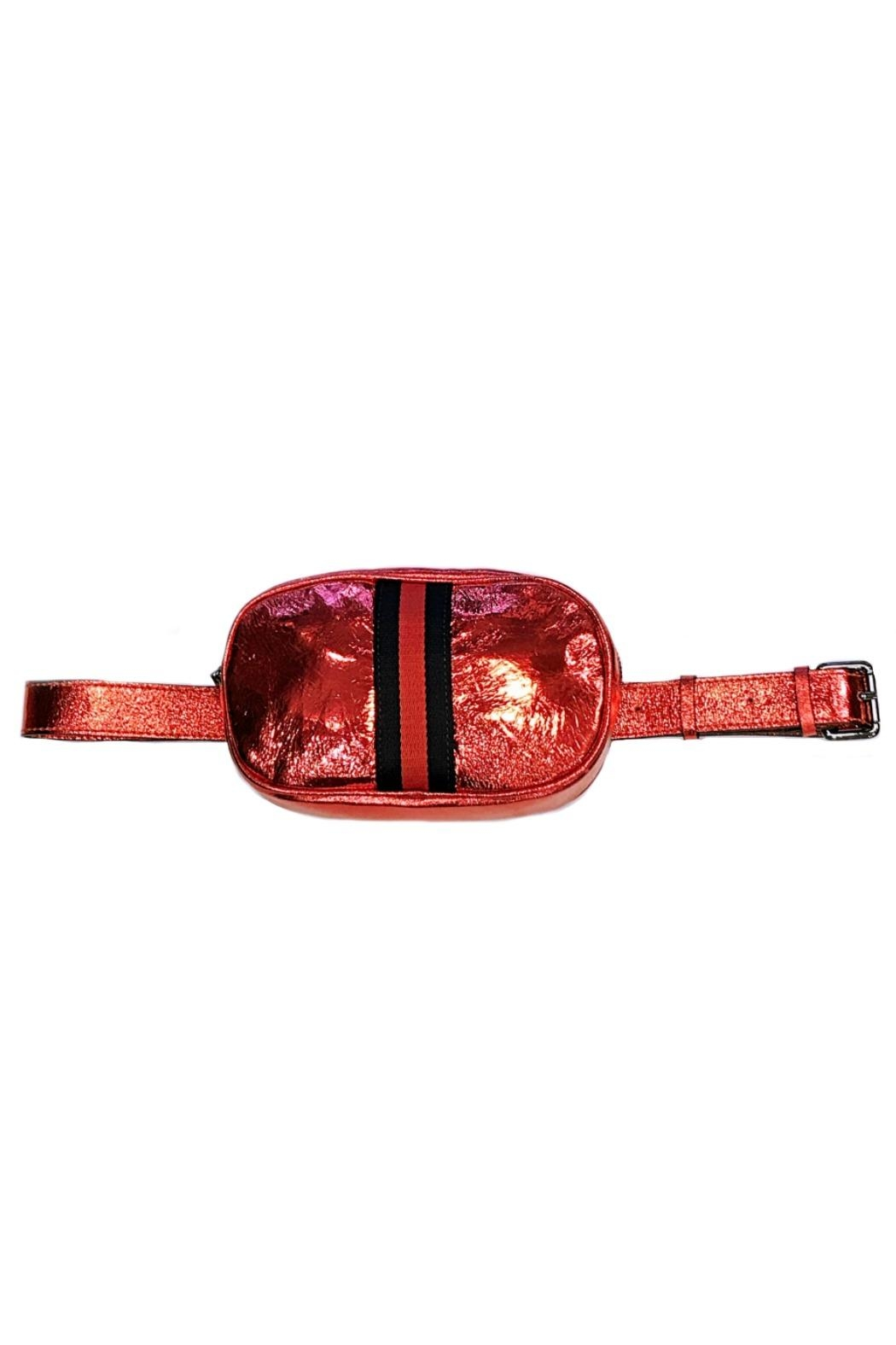 Leather Country Metallic Belt Bag - Front Cropped Image