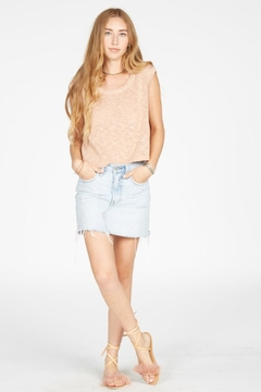 Knot Sisters Metallic Blush Tank - Product List Image