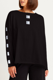 Planet by Lauren G Metallic Cube Tee - Front cropped