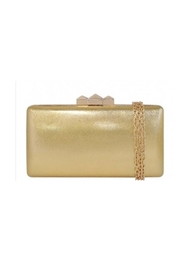 JNB Metallic Faux Leather Box Clutch - Product Mini Image