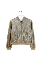 Mayoral Metallic-Faux-Suede Jacket - Front cropped