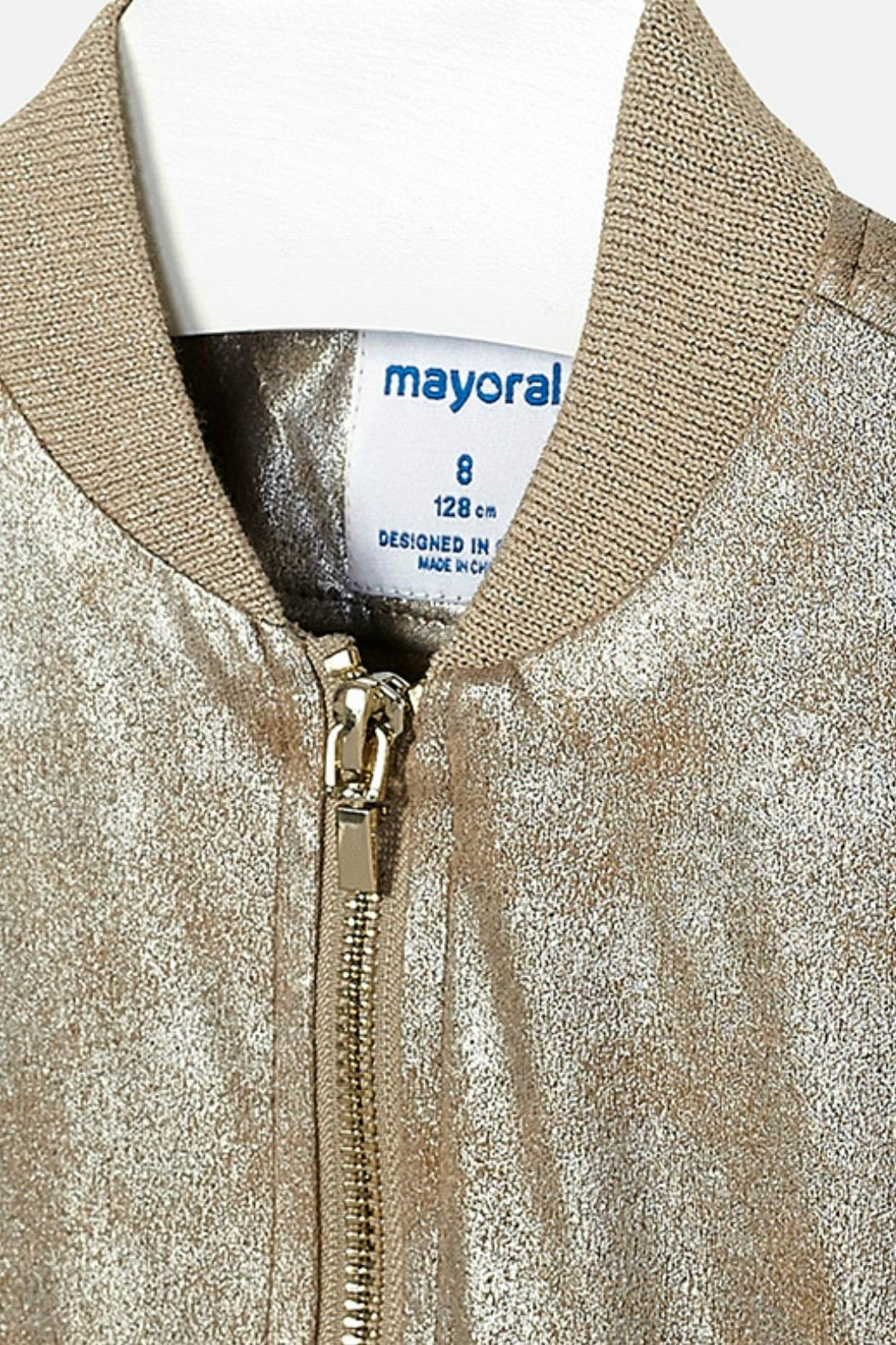 Mayoral Metallic-Faux-Suede Jacket - Side Cropped Image