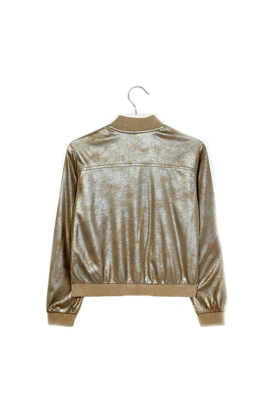 Mayoral Metallic-Faux-Suede Jacket - Front Full Image