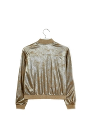 Mayoral Metallic-Faux-Suede Jacket - Front full body