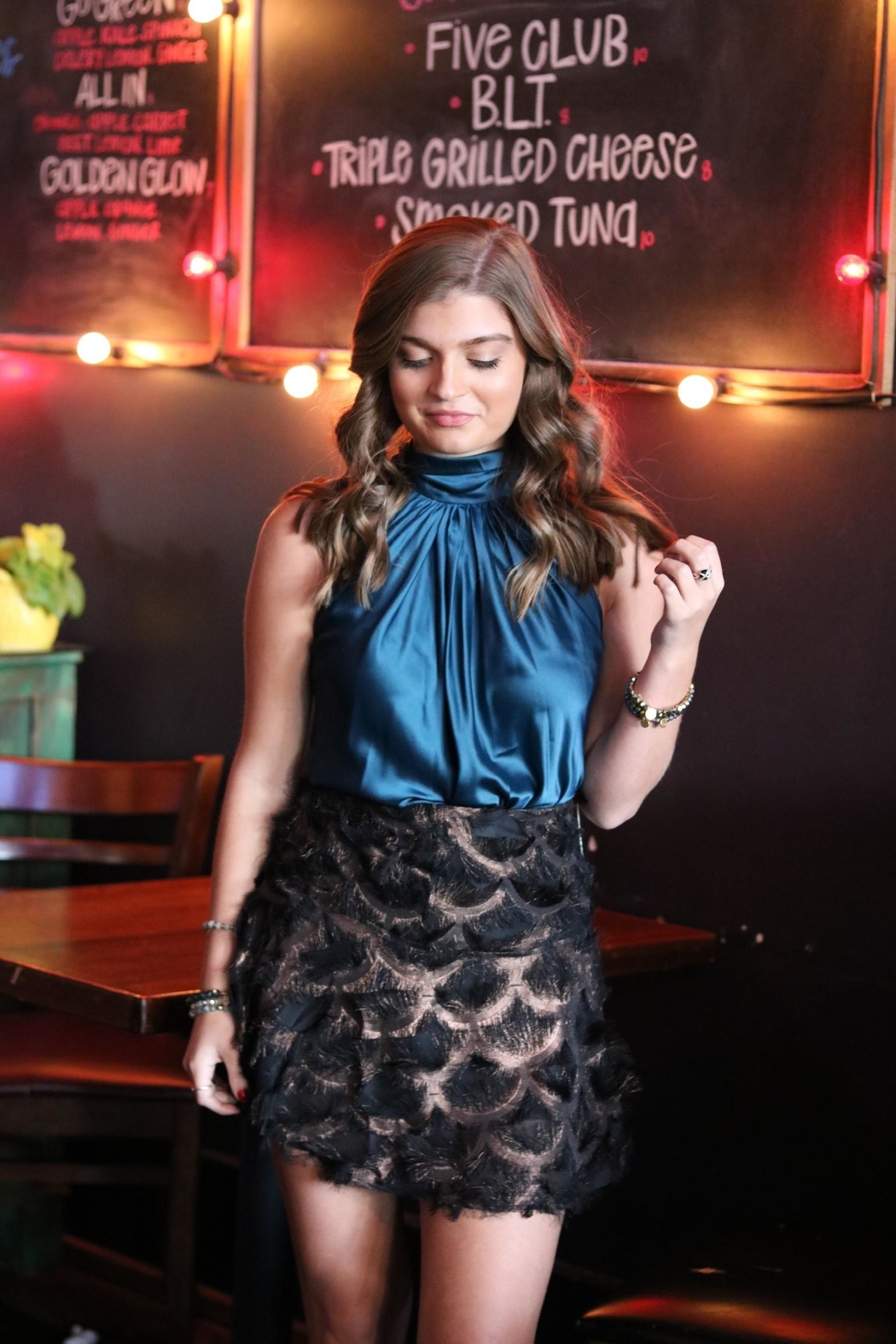 TCEC Metallic Feather Skirt - Front Full Image