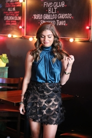 TCEC Metallic Feather Skirt - Front full body