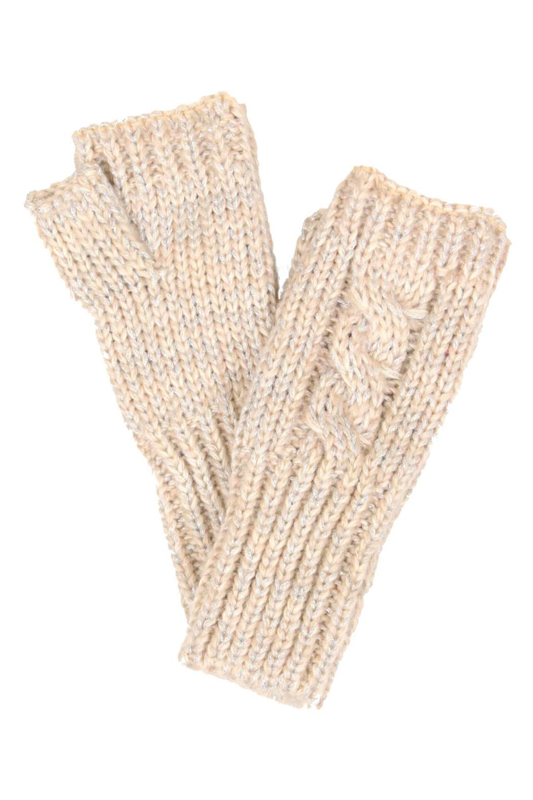 Wild Lilies Jewelry  Metallic Fingerless Gloves - Front Cropped Image