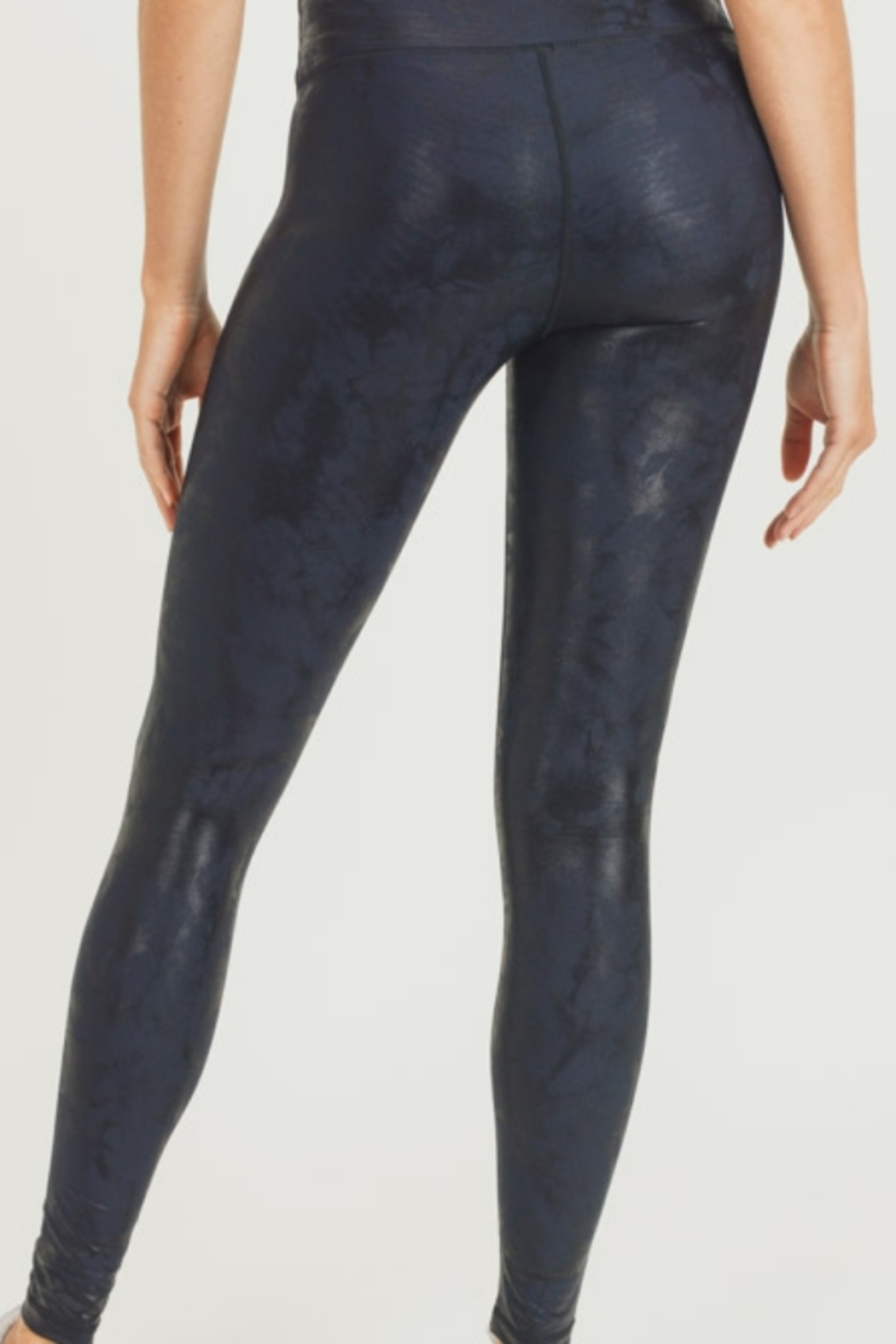 Mono B Metallic Foil Print Leggings - Front Full Image