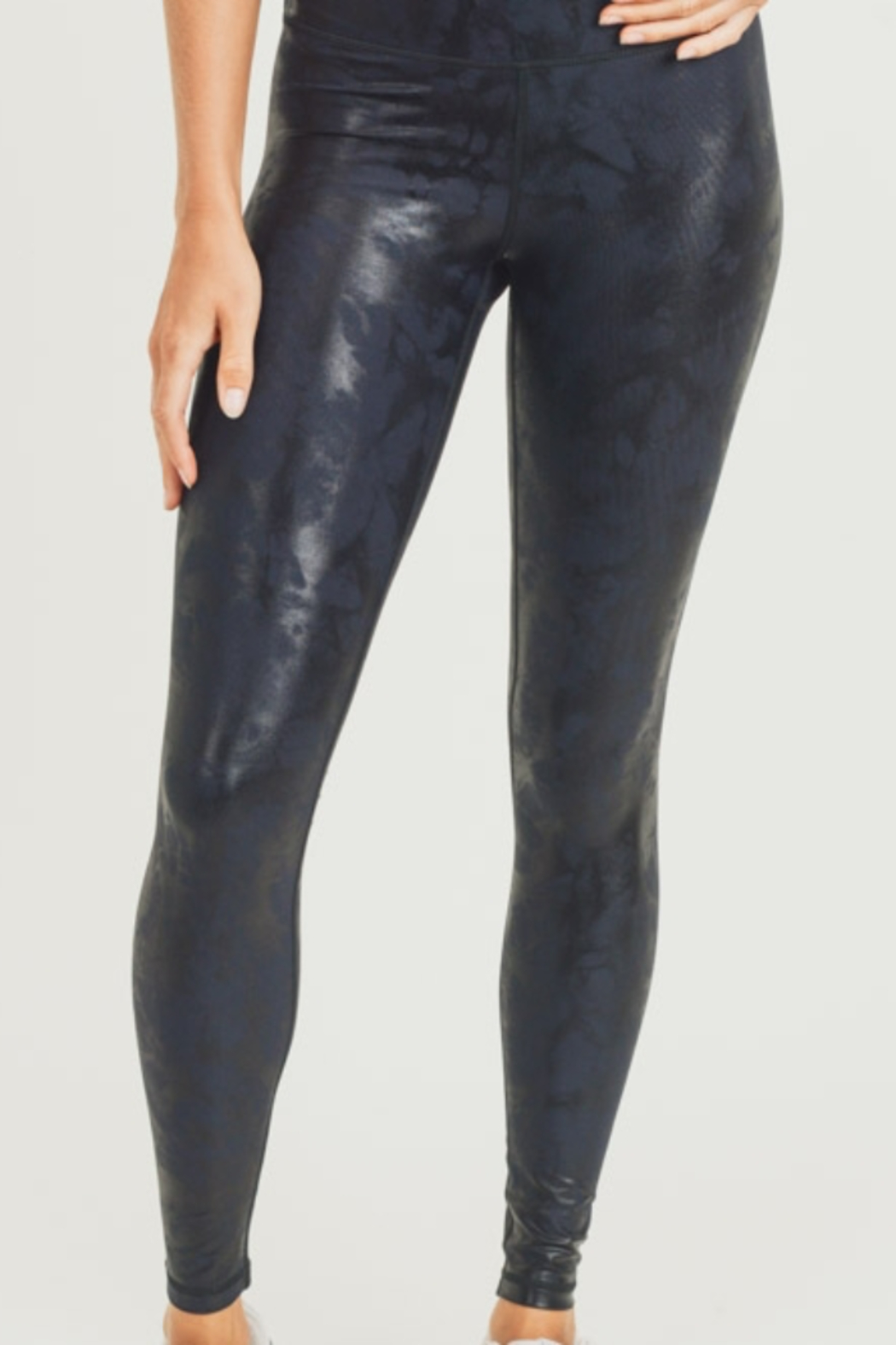 Mono B Metallic Foil Print Leggings - Main Image