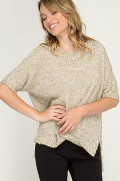 Shoptiques Product: Metallic Fuzzy Sweater