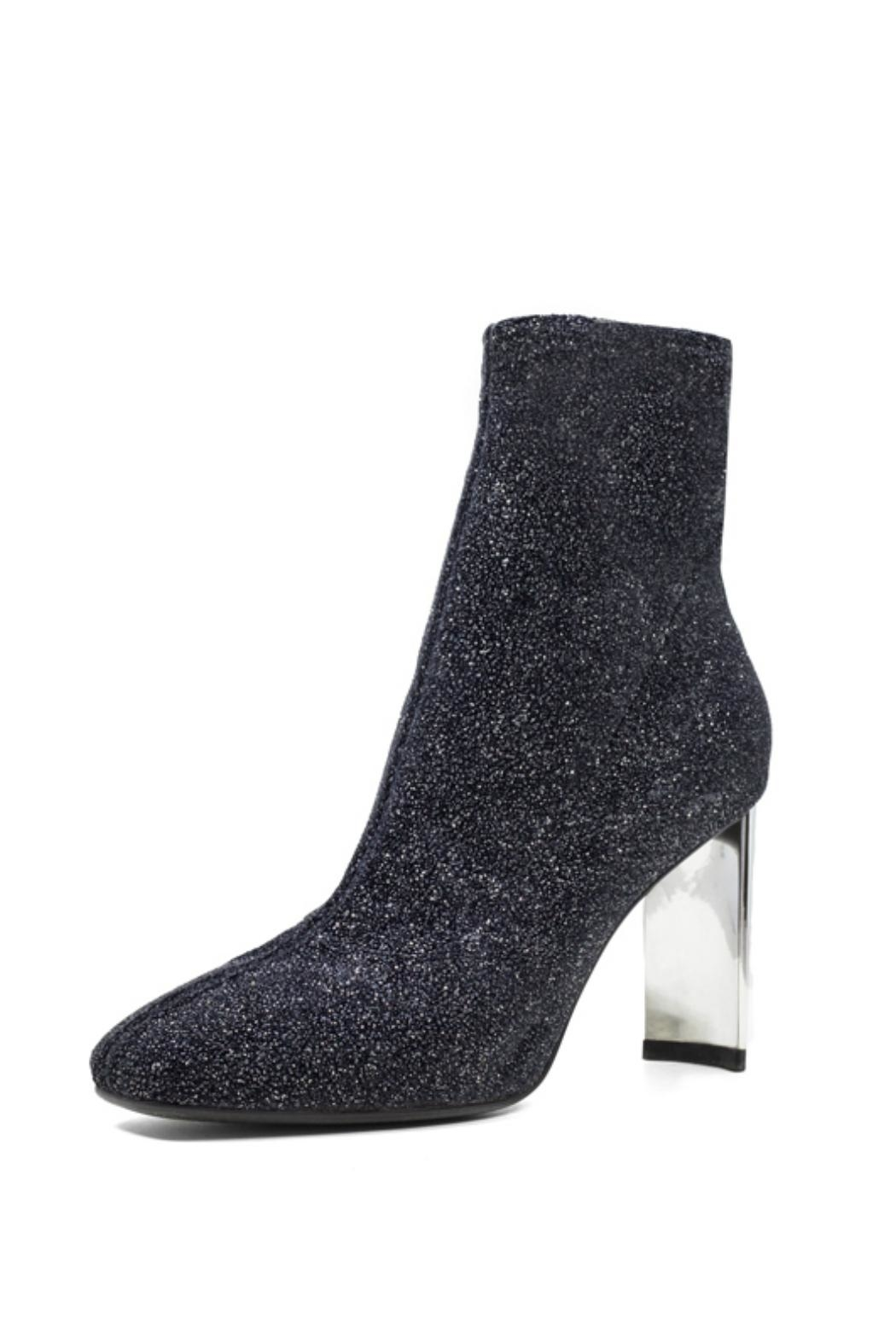 Lola Cruz Metallic Glitter Boot - Front Full Image