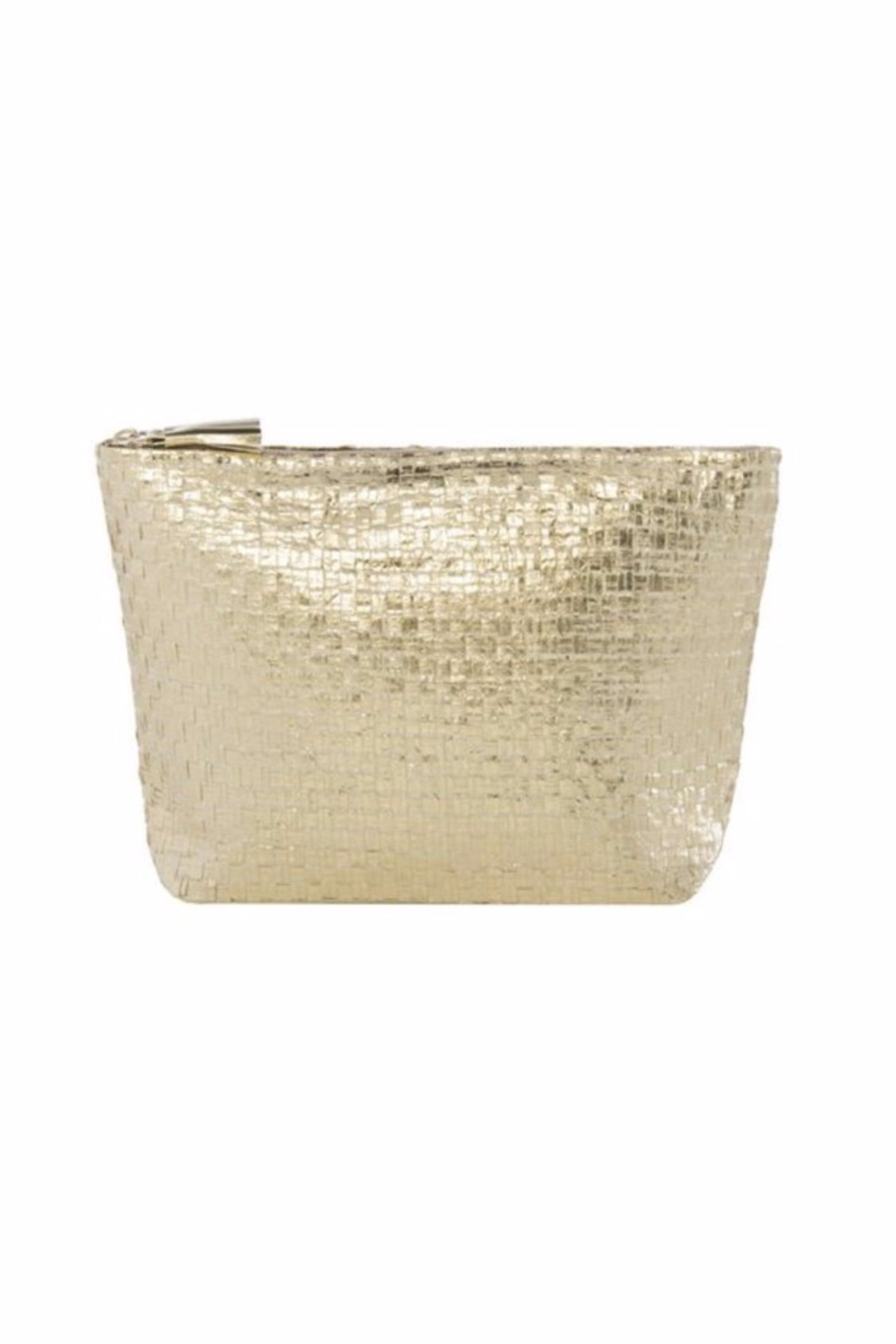 Allie & Chica Metallic Gold Pouch - Main Image