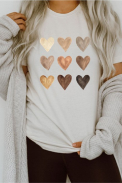 OCEAN & 7TH Metallic Heart Valentine T Shirt - Product List Image