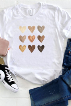 OCEAN & 7TH Metallic Heart Valentine T Shirt - Alternate List Image