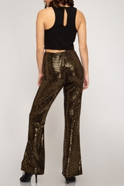 She + Sky Metallic High Waist Flare - Product Mini Image