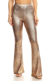 Bear Dance Metallic High-Waisted Pants - Product Mini Image