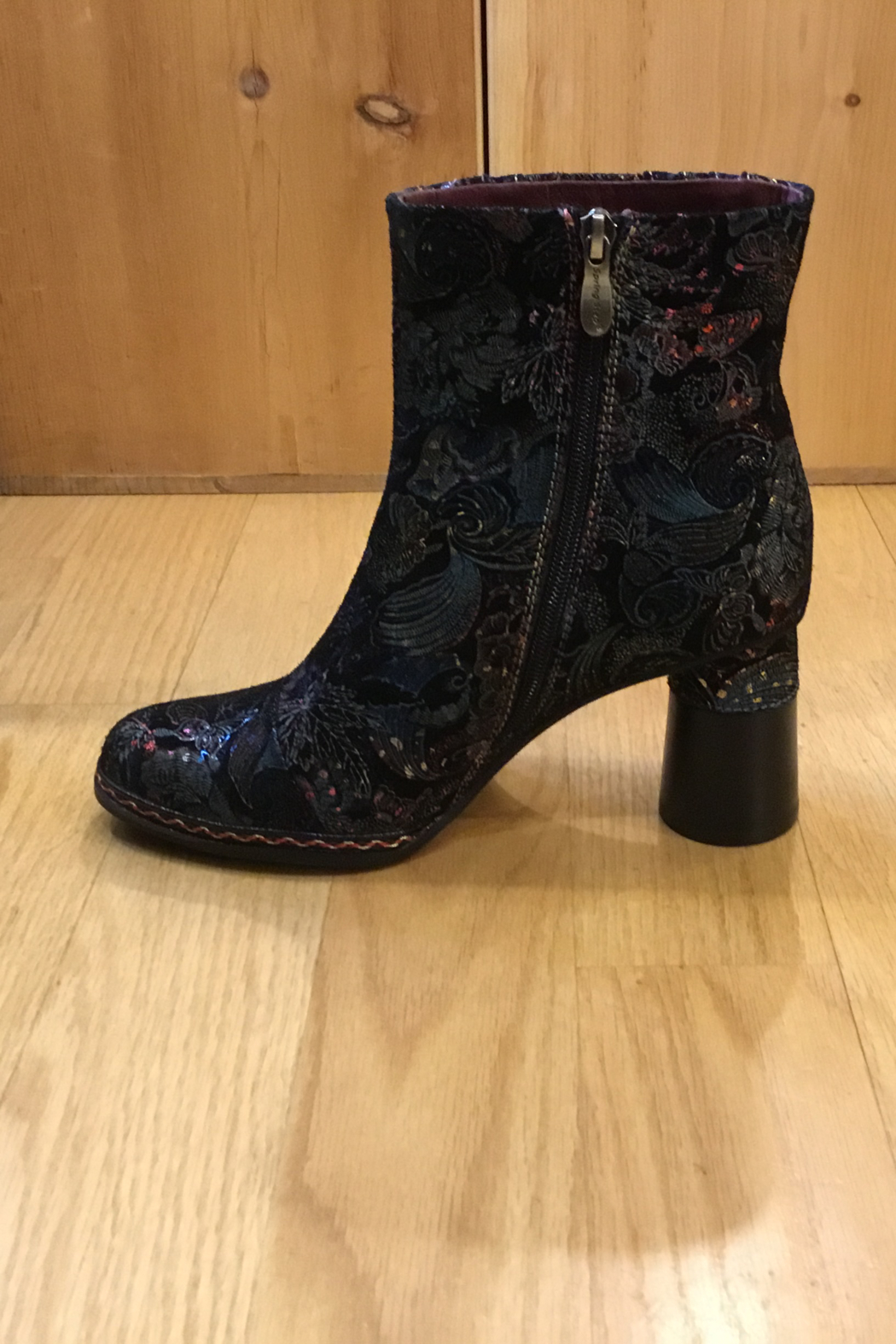 Spring Step  Metallic imitation leather boot - Front Full Image