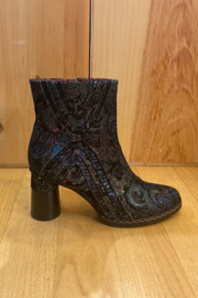 Spring Step  Metallic imitation leather boot - Front cropped
