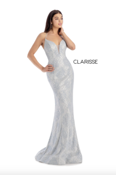 CLARISSE Metallic Ivory Gown - Alternate List Image