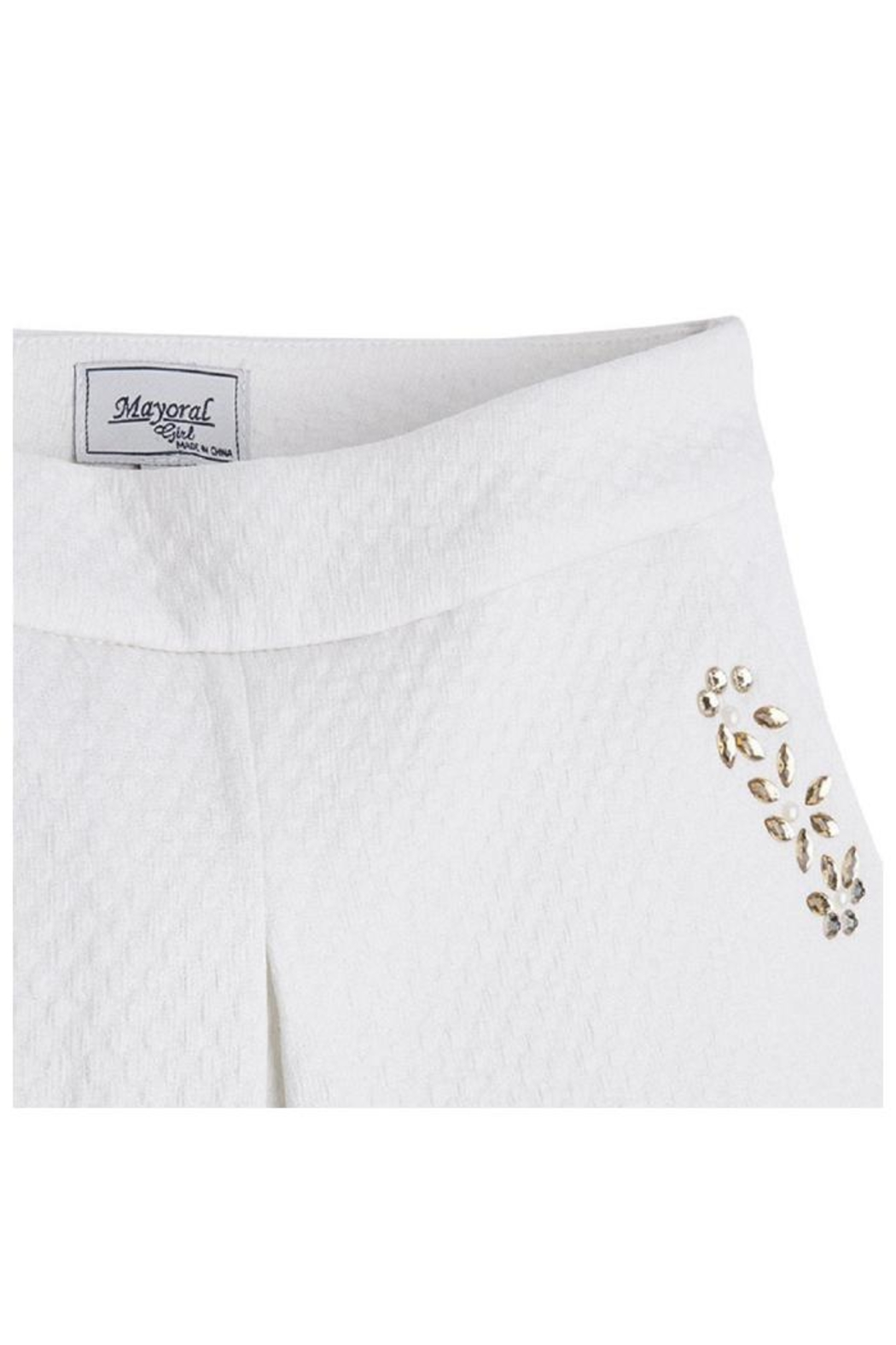 Mayoral Metallic Jeweled Skort - Side Cropped Image