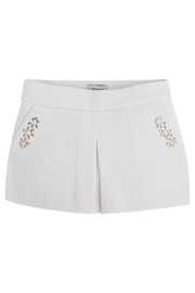 Mayoral Metallic Jeweled Skort - Front cropped