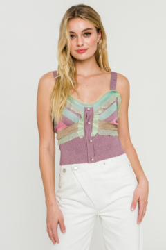 Endless Rose Metallic Knit Top - Product List Image