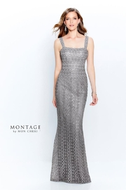 Montage Metallic Lace Dress, Grey - Product Mini Image