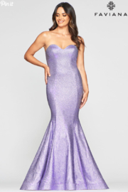 Faviana Metallic Lavender Gown - Product Mini Image